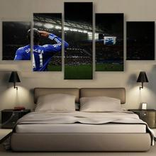 Hot Sel 5 Panel HD Print Painting Chelsea Football Star Paintings on Canvas Wall Art for Home Decorations Wall Decor Artwork