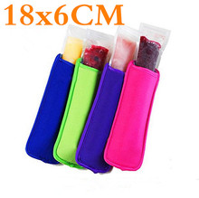 200pcs/lot Popsicle Holders Pop Ice Sleeves Freezer Pop Holders 21 Colors for Kids 6x18cm
