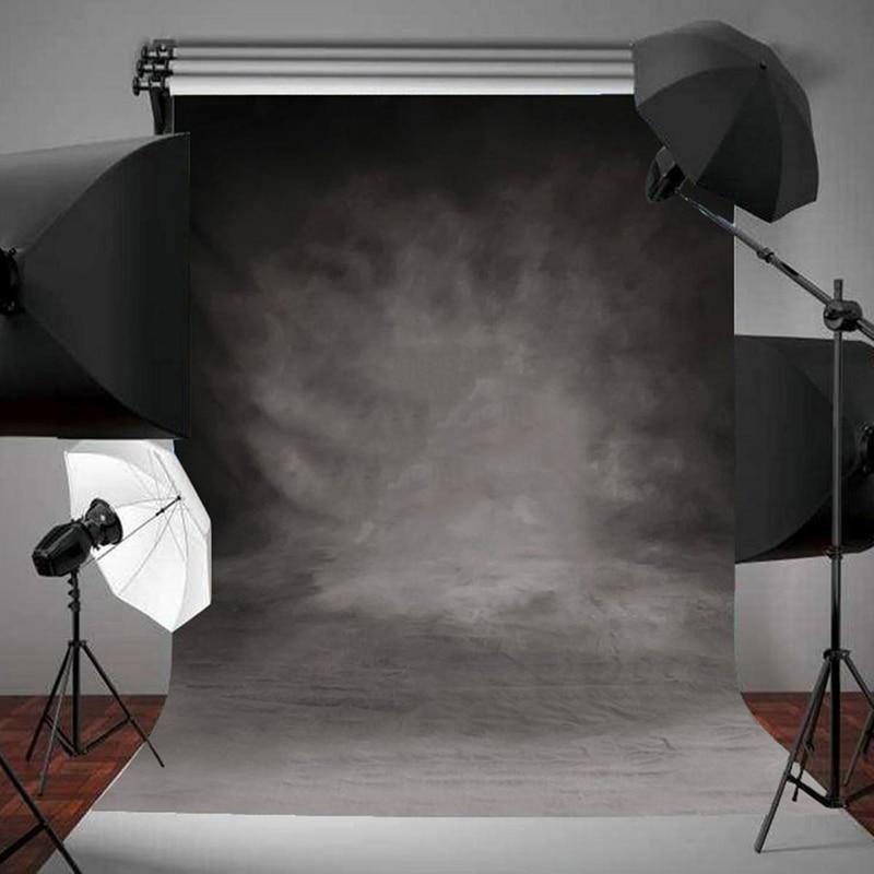 Mayitr 1pc Vinyl 3x5FT Backdrop Retro Cloth Black Grey Wall Photography Background For Studio Photo Props
