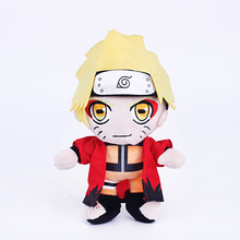 25cm Anime Naruto Shippuden Uzumaki Naruto Immortal Mode Plush Toys Doll Soft Stuffed Toys Figures Toy for Kids Children Gift