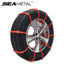 10pcs Car Tire Snow Chains Set Universal Winter Anti-Skid Adjustable Auto Safety Plastic Wheel Chain Ice Mud Outdoor Autocross(China)