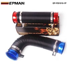 EPMAN -New Blue Universal 76mm Air Intake Induction Kit Flexible Cold Feed Duct Pipe 100CM For VW Golf MK6 GTi 2.0 EP-FB1010-1P(China)