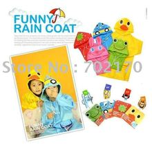 Wholesale cartoon animal shaped children's poncho children, raincoat(China)