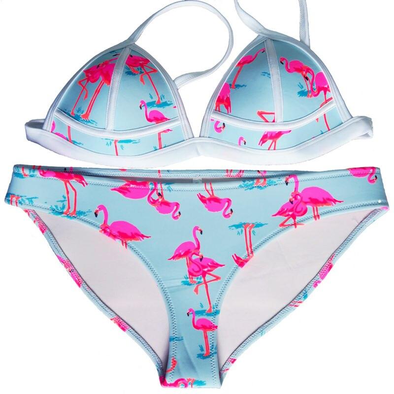 Summer 2017 Women Swimwear Sexy Swimsuit Girl Bikini Neoprene Bikini Set Bandage Brazilian Biquini  Bathing Suit Push UP -SC007<br><br>Aliexpress