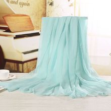 Fashion Women Scarf Vintage Ladies Solid Color Red White Scarves Warp Women's Scarf Long Shawl