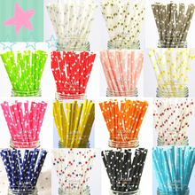 25pcs sliver gold star blue pink red Paper Straws drinking stick for christmas wedding party celebration Decorations tableware