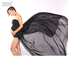 ZTOV Women Black Skirt Maternity Photography Props Elegant Pregnancy Clothes Maternity Dresses For pregnant Photo Shoot Clothing(China)