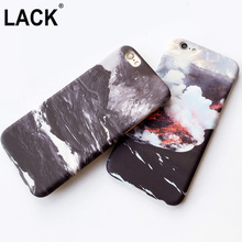 Cool Fashion Phone Cases Art Oil Painting Style Black Seamount Volcano Erupt Print Hard Skin For iPhone 6 6S 6plus coque Fundas
