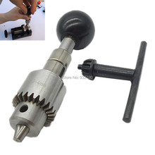 Hand Drill Jewelers Manual Hole Drilling Reamer Hand Twist Drill Chuck Clamp 0.3-4mm With Key Olive Amber Model Mini Hand Drill