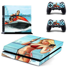 Vinyl Skin GRAND THEFT AUTO Decal PS4 Skin Stickers Wrap for Sony PlayStation 4 Console and 2 Controllers Decorative Skins