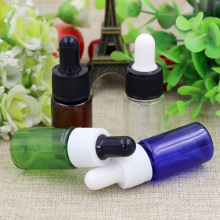 5pcs 10ML Serum Plastic Bottle Cosmetic Packaging Sample Bottles Perfume Packaging  Lotion plastic Dropper Bottle