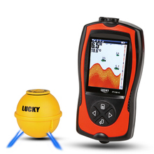 LUCKY FF1108-1CWLA 2-in-1 Wireless Fish Finder With LCD Sonar Transducer Depth Locator Ocean Boat Alarm Fish Detector De Pesca