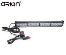 "car-styling 18"" 16 LED Emergency Traffic Hazard Flash Strobe Light Bar Warning  Yellow White Blue Amber Red Green work light"