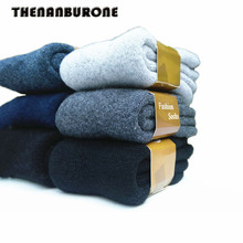 THENANBURONE Best Quality Thick Wool Socks Men's Warm Socks Thermal Cashmere Winter Socks Brand Comfortable Meia For Men Socks(China)