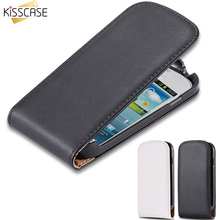 KISSCASE Vertical Magnetic Chip Flip Leather Cover For Samsung Galaxy S3 Mini i8190 Classic Vintage Mobile Phone Cases S 3 Mini(China)
