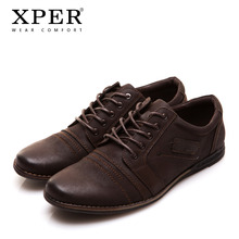 2017 XPER Brand Men Shoes Lace-up Men Casual Shoes Big Size Business Shoes Leisure(China)