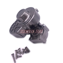 AXIAL SCX10 RC TRUCK METAL ASSEMBLED TRANSMISSION GEARBOX WITH HD STEEL MOTOR GEAR GUN METAL(China)