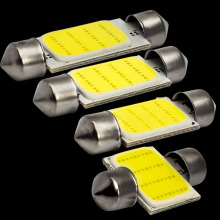 High Quality 31mm 36mm 39mm 42mm Super COB LED FESTOON Bulb 12 Chips C5W White Color Car Dome Light Auto Interior Lamp DC12V