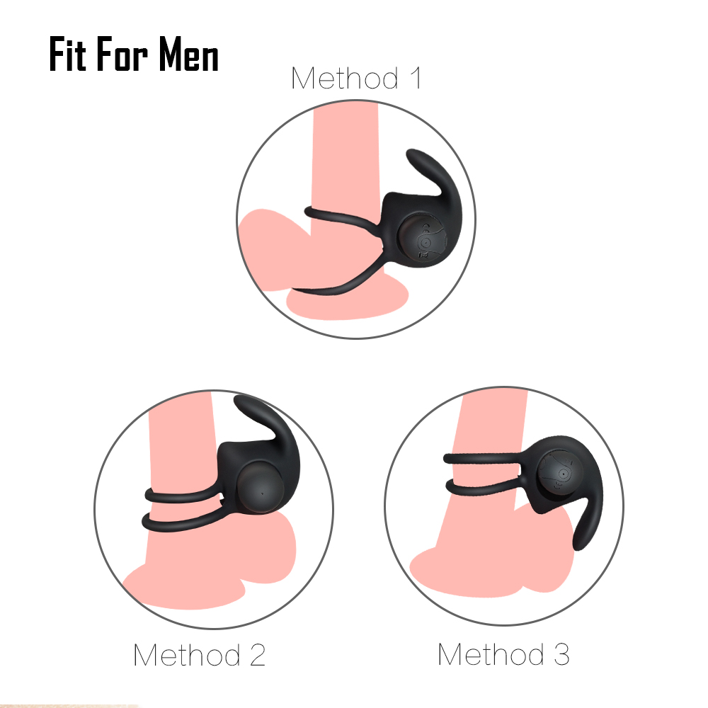_07USB Recharge Delay Cockring Vibrating Ring Remote Control penis Ring Vibrato Erectile Ring Massager Sex Toys For Men