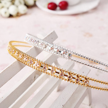M MISM 1Pc Fashion Women Lady Metal Crystal Rhinestone Head hoops for the hair Band Jewelry Hair band Hair accessories Headband