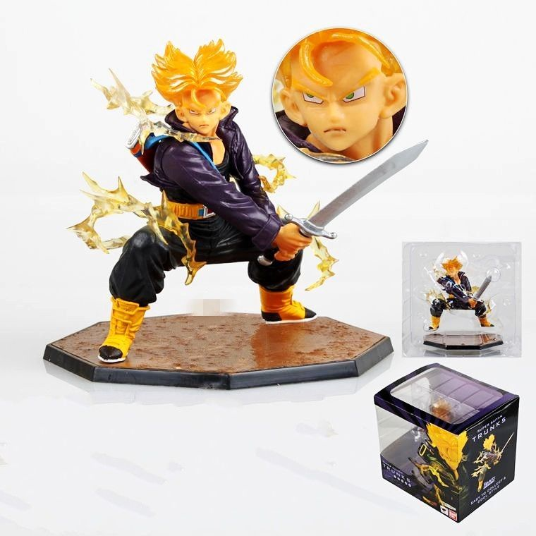 Dragonball Kai Z Super Saiyan Trunks Figuarts Toys 14cm Figure Figurine Statue WMQ029<br><br>Aliexpress