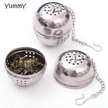 New Essential Stainless Steel Ball Tea Infuser Mesh Filter Strainer w/hook Loose Tea Leaf Spice Home Kitchen Accessories