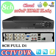 Full D1 H.264 HDMI Security System CCTV DVR 8 Channel Mini DVR Digital Video Recorder DVR with audio,HDMI,Cloud P2P