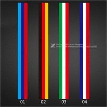500*15cm Car-Styling Decoration Decals Exterior Auto Motorcycle Waterproof PVC Sticker Covers For VW BMW 3 Colors Line