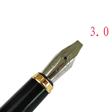 Italic nib Art Fountain Pen Arabic Calligraphy Black Pen Line Width 1.1mm to 3.0mm(China)