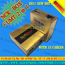 gsmjustoncct 2017 The Newest Original NCK Pro box NCK Pro 2 box (support NCK+ UMT 2 in 1)For Huawei Y3,Y5,Y6+15cables(China)