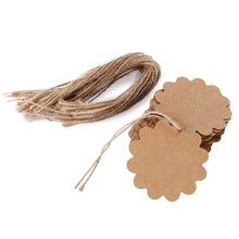 100Pcs Blank Brown Kraft Tags Round Paper Marked Cards Diy Craft Gift Tags Wedding Favor Box Decorations(China)