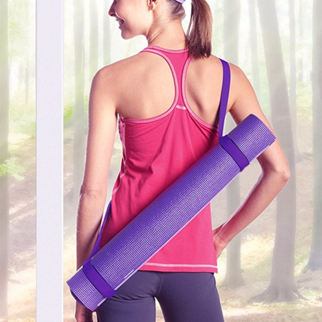 Yoga Mat Strap Strap Belt Adjustable Sports Sling Carrier Shoulder Carry Strap Belt Exercise Stretch Fitness Elastic Yoga Belt
