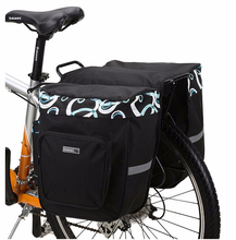Buy 30L Double Side Bike Rear Bag Pannier 600D Polyester Bicycle Carrier Bag PVC Cycling Rack Seat Bag MTB Saddle Bag Pouch BG0025 for $25.38 in AliExpress store