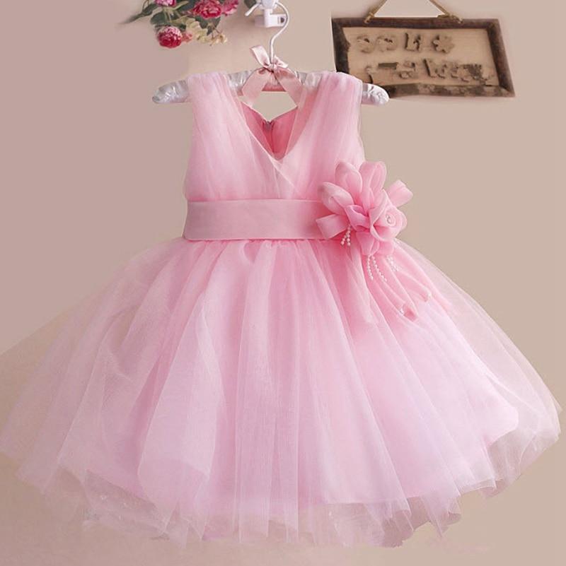 Flower Girls Dress 2016 V-neck Lace Tutu Dresses Sleeveless Kids Party Birthday Clothing Princess Dance Costume 3-12 Years GD63<br><br>Aliexpress
