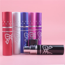 Top Quality 1 Piece 10ml Butterfly Refillable Portable Mini perfume bottle &Traveler Aluminum Spray Atomizer Empty Parfum Bottle
