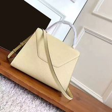 2017 new arrive luxury large size handbags calfskin genuine leather shoulder bags original designer beige casual tote(China)