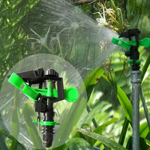 New Garden Metal Sprinkler Spike Lawn Grass 360 Degree Adjustable Rotating Water Nozzle Impulse Sprinkler For Irrigation System(China)