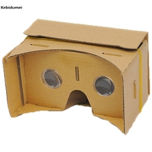 "Kebidumei DIY Google Cardboard 3D VR Box Reality Glasses VR Mobile Phone 3D for 5.0"" Screen Google VR 3D Movies Games"