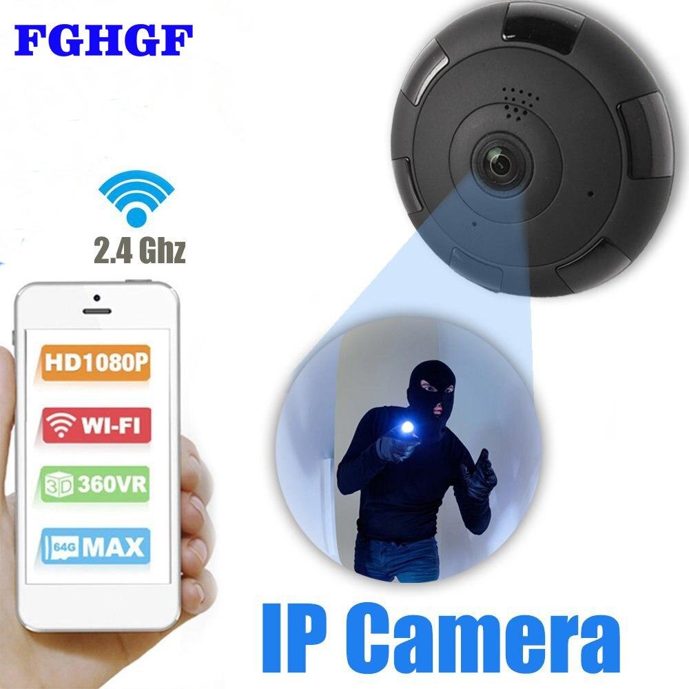 FGHGF 360 Degree 2.0MP Fisheye Panoramic IP Camera Wireless Wifi IP Camera with IR Night Vision/2-way Audio/Motion Detection<br>