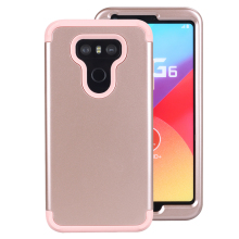 2 in 1 TPU & PC Hard Cover LG G6 Case Shockproof Hybrid Silicone Phone Case LG G6 Cover Protection Rubber Armor Coque LG G6 G 6(China)