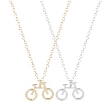 QIAMNI Hot Fashion 30pcs/lot Wholesale Unique Cute Bicycle Pendant Necklace for Women and Girls Collares Minimalist Jewelry Gift