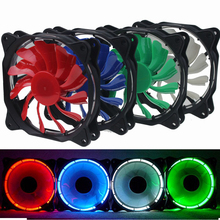 1 Piece Blue/ Green/ White/ Red LED Eclipse Fan 120mm DC 12V 3Pin/4Pin PC CPU Cooling Cooler