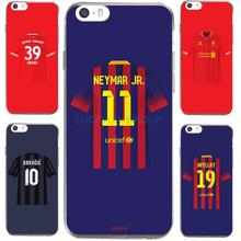 For Football Club Barcelona Neymar Jersey For IPhone7 7Plus 4 5S SE 6 6S Case Transparent Silicone soft slim Tpu Phone Cover