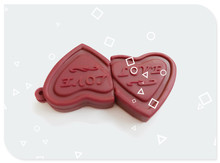 Heart Chocolate Shapes USB Flash Drive 4gb 8gb 16gb 32gb Usb disk USB 2.0 pen drive Memory USB Stick pendrive U Disk