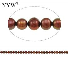 Potato Cultured Freshwater Pearl Beads for making diy Jewelry Bracelet necklace claret, 8-9mm Per Approx 14.5 Inch Strand(China)