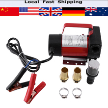 12v DC Electric Diesel Kerosene Portable Transfer Pump Heavy Duty Vehicle Truck 40L/min With Fittings Clamp Micro Mesh Filter