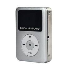 2017 USB 2.0 Digital MP3 Player LCD Screen Support 2/4/8/16GB/32GB Micro SD Card reader Metal English High quality MP3