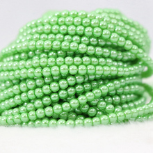 "Fashion candy colors multicolor imitation shell pearl 3mm round fashion women girls jewelry making loose beads jewelry 15""B1185"