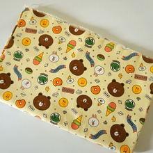 cotton&polyester fabric canvas Patchwork Line Offline Bear BROWN CONY rabbit DIY Curtai Tablecloths cushions Sewing Textile