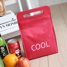 branded small picnic cooler bags lunch box Cool red portable ice pack lunch bag insulation bag food fresh insulated handbags